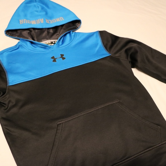 Under Armour Other - Under Armour Boys M Hoodie Sweater blue & black